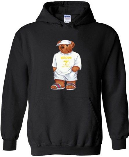 a40a523ab20 LIFE MOSCHINO BEAR Unisex Hoodie in 2019