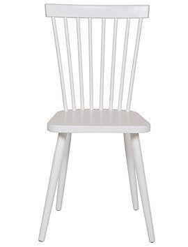 Stuhl Immer wieder schön! Der weiße Küchenstuhl feiert sein come back. Der weiß lackierte Stuhl hat feine Rückenstreben und sitzt sich wunde...