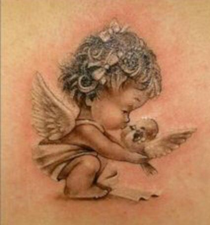 Ange Bisous Oisrau Tattoos Baby Angel Tattoo Tattoos Angel