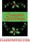 Season's Greetings Embroidered Accents Applique Garden Flag