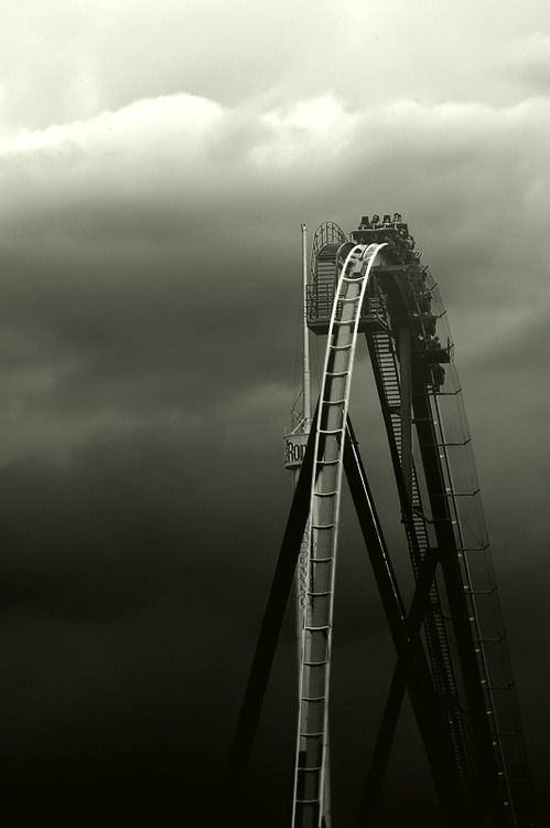 I remember the day I was blindfolded and taken to Thorpe Park. I was serioulsy hung over and a camera crew told me they wanted to film me on this amazing roller coaster. I was so scared I almost cried. After the ride I had a sense of euphoria...My psychologist who was sat next to me the entire ride, established that I was a thrill seeker......x
