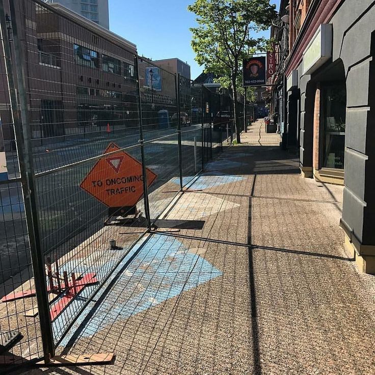 From @worldteahouse  Fences are up digging hasn't started (not sure WHAT the city is waiting for) and we are OPEN! Hours: 12-8 Mon-Sat closed Sun. #Halifax #downtownhalifax #ArgyleStreet #Streetscape #TeaHouse #UnderConstructionFor3Years #HelpUsSurvive