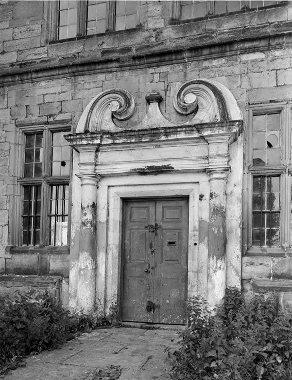 Plas Teg, Hope: entrance in east elevation, 1956