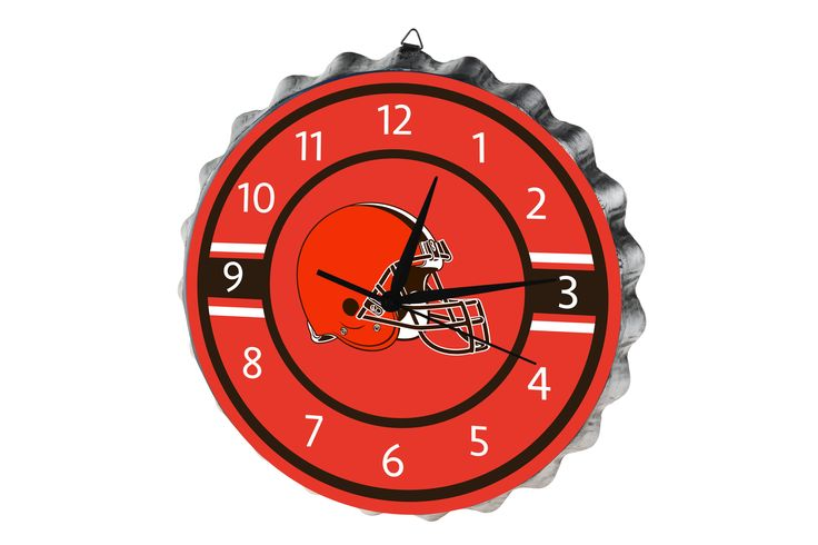 Cleveland Browns Clock Bottle Cap Style