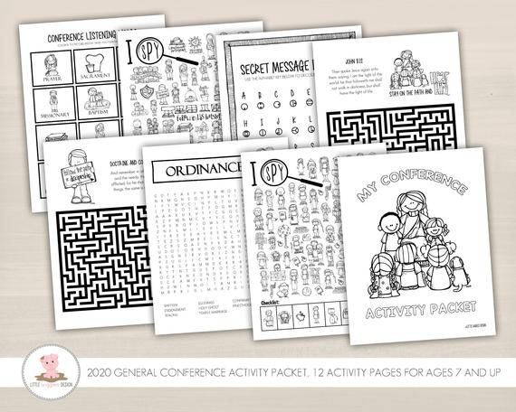 General Conference Activity Packet General Conference For Etsy In 2020 General Conference Activities General Conference Activities For Kids General Conference