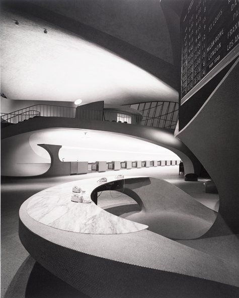 Ezra Stoller, Eero Saarinen, Eero Saarinen, TWA Terminal, New York International (now John F. Kennedy, 1962; photograph; gelatin silver print, 20 in. x 16 in. (50.8 cm x 40.64 cm); Collection SFMOMA, Accessions Committee Fund purchase; © Esto