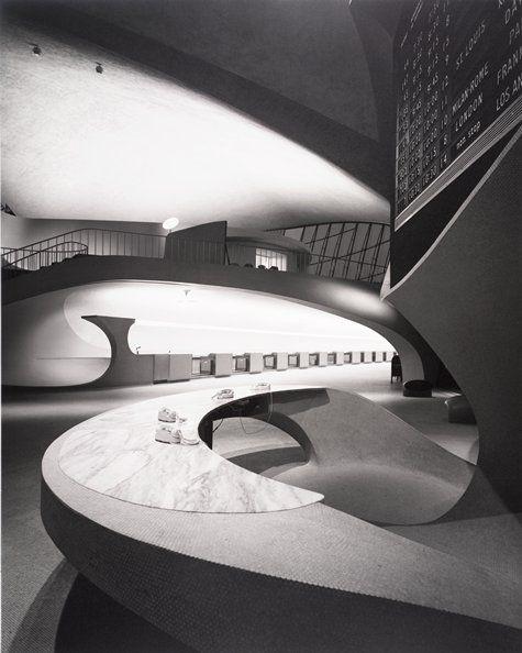 Ezra Stoller, Eero Saarinen, Eero Saarinen, TWA Terminal, New York International (now John F. Kennedy, 1962; photograph; gelatin silver print, 20 in. x 16 in. (50.8cm x 40.64cm); Collection SFMOMA, Accessions Committee Fund purchase; © Esto