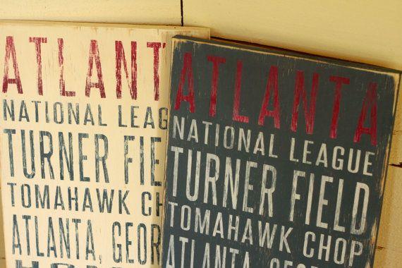 Atlanta Braves Distressed Decorative Sign