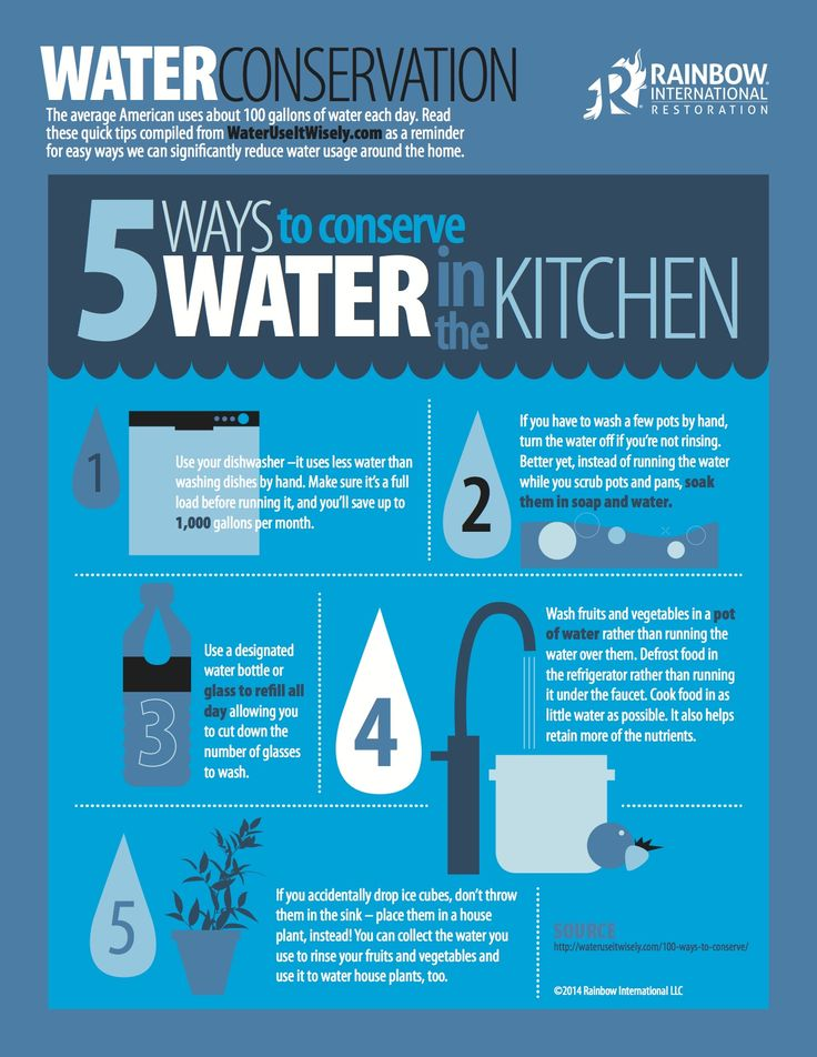Tips From Our Blog For How To Conserve Water In The Kitchen Infographic