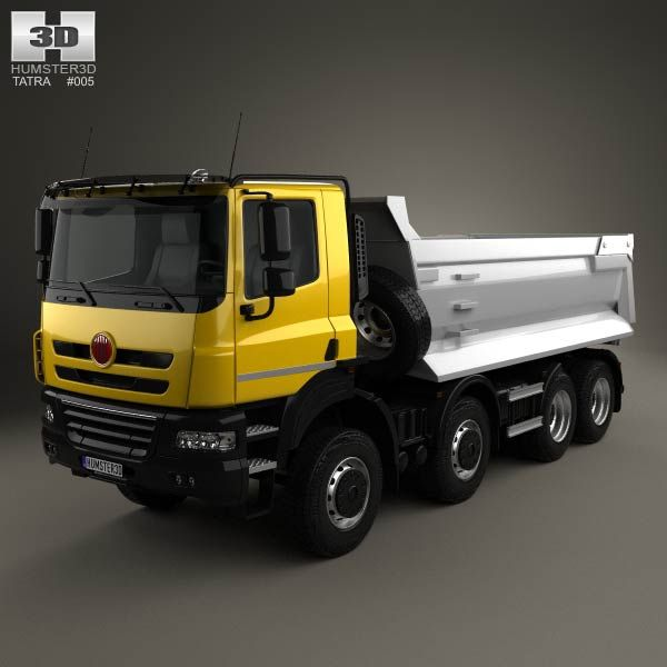 Tatra Phoenix Tipper Truck 4-axle 2011 3d model from humster3d.com. Price: $75