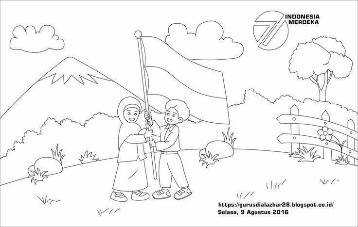 Pin Oleh Nissa Ndhoett Di Sketsa Warna Sekolah Buku Mewarnai Sketsa