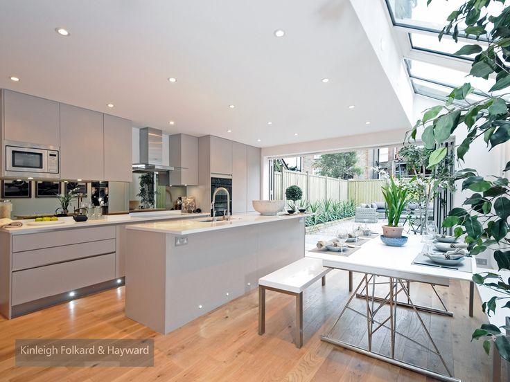 #woodenfloor #spotlight #bifolddoor #kitchenisland #grey #kitchen #kfh