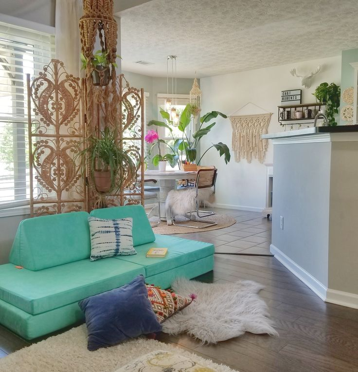 Cactus Nugget looks great in this #boho home! # ...