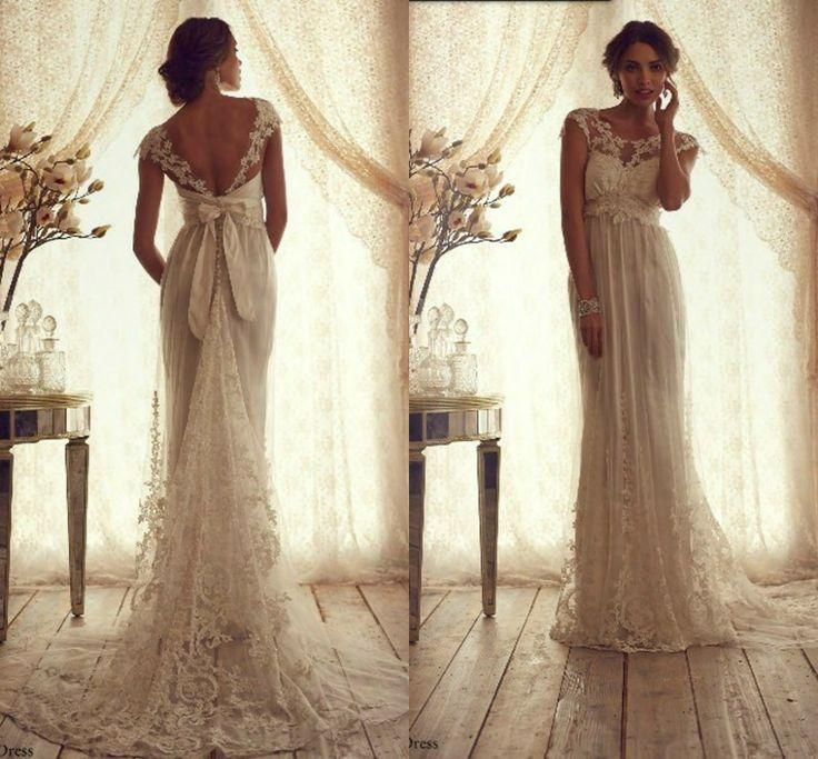 Backless Wedding Dresses  lace anna