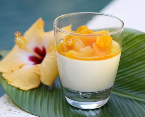 Yogurt Panna Cotta With Apricots