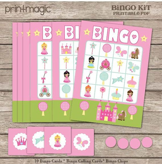 Sam!!! perfect for jamilas and for 20 girls.     Instant Download Princess Bingo Printable Party Game by printmagic, $4.00