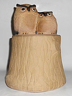 Metlox Pottery Pottery Poppy Trail #535 Owls Cookie Jar