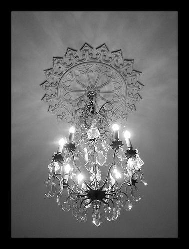 Sparkling chandeliers