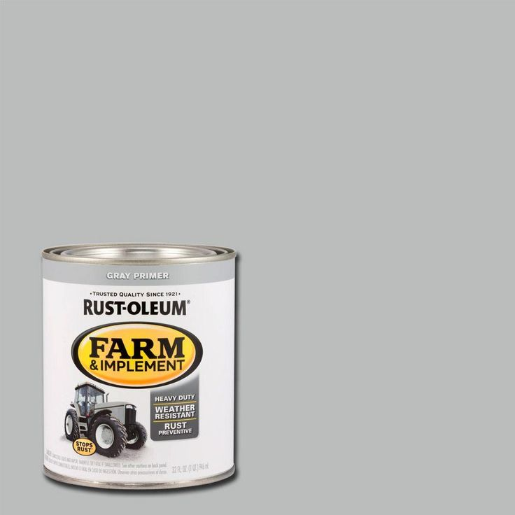 Rust-Oleum 1-qt. Farm and Implement Gray Primer Spray Paint (Case of 2)