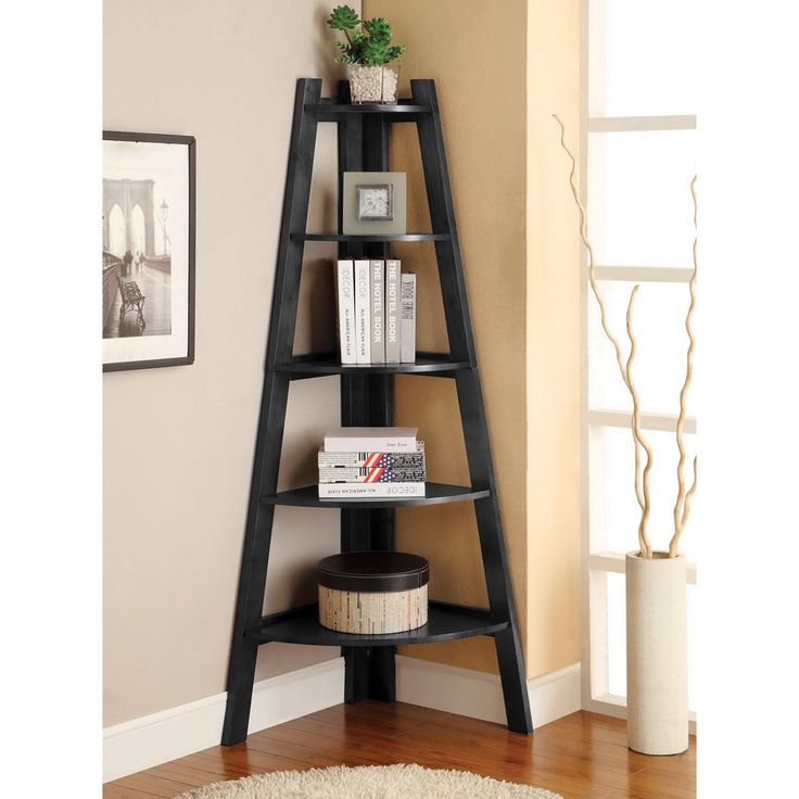 Furniture of America Kiki 5-tier Corner Ladder Display Bookcase - Overstock™ Shopping - Great Deals on Furniture of America Media/Bookshelves