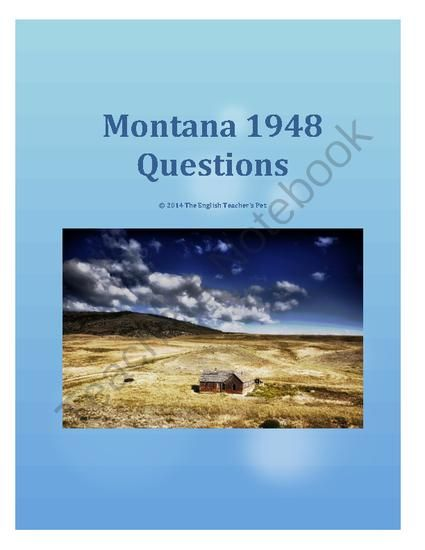 book summary montana 1948 Montana 1948 is an intriguing novel written by larry watson montana 1948 is a novel based on a 12 year old boy named david hayden whose.