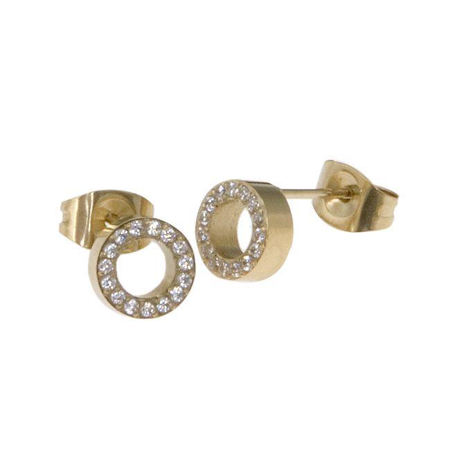 Ingnell Jewellery - Alva stud gold. Stainless steel. www.ingnelljewellery.com