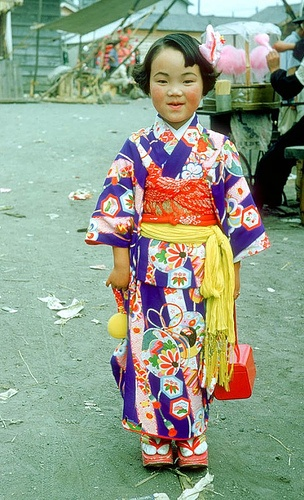 mix and match prints and patterns - take a look at this - Chitose Hokkaido, Japan, ca.1953