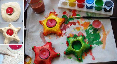 Поделки из соленого теста: елочные игрушки и новогодние поделки - Игры с детьми - Babyblog.ru