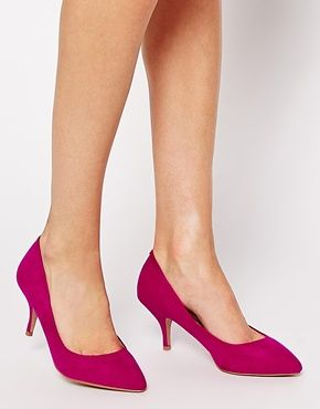 Enlarge Oasis Eve Mid Heeled Pink Court Shoes