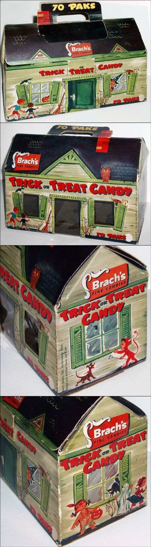 1955 Brach's Trick or Treat Candy Box. I wish they made cool stuff like this again.