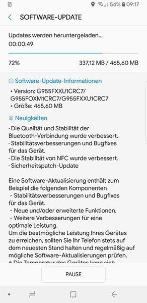 Samsung Galaxy S8 & S8+ Updated With March Security Patch In Europe
