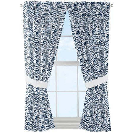 Nfl Seattle Seahawks Anthem Window Curtain Panels Multicolor Curtains And