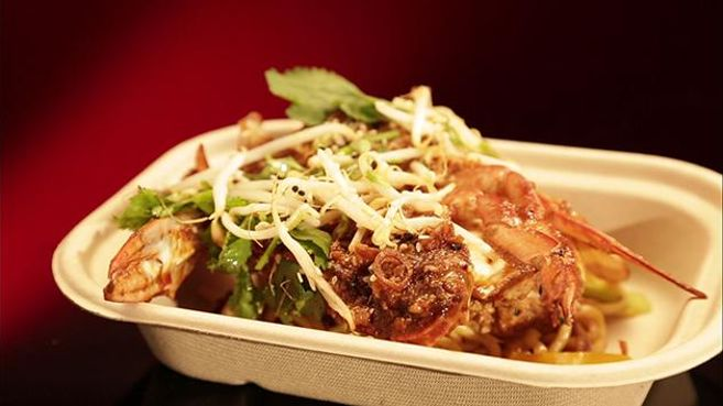 Singapore Chilli Crab with Egg Noodles and Coriander Salad