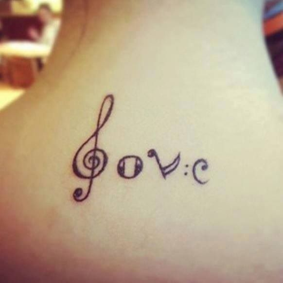 Love music tattoo