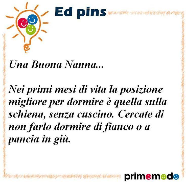 L'educazione in un pin - Consigli per una buona nanna  www.primomodo.com