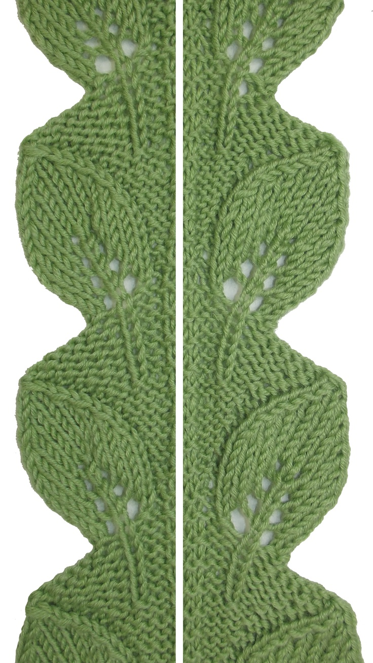 Knitting Stitch Patterns Leaf : 1000+ images about Knit - Stitches Leaves on Pinterest Stitches, Charts and...