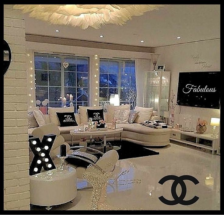 A CHANEL Inspired Beauty Room  Beauty in 2019  Home decor Bedroom decor Living room goals