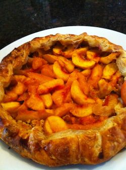 Peach tart recipe, with puff pastry