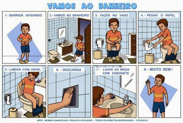 apoio visual para autistas usarem banheiro - Pesquisa Google