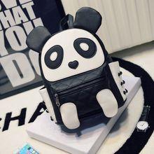 Panda mochilas mujer cuero de la historieta de Kawaii bolsos bolsos de hombro para adolescentes niños niñas niños lindos bolsa Kanken Mochila Mochila(China (Mainland))