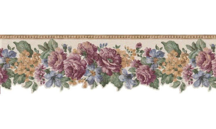 prepasted wallpaper borders floral wall paper border on border wall id=58218