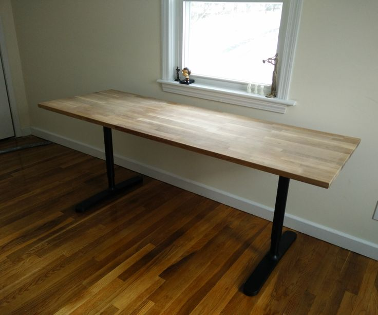 Butcher Block Countertop Table Ikea Hack Home Ikea