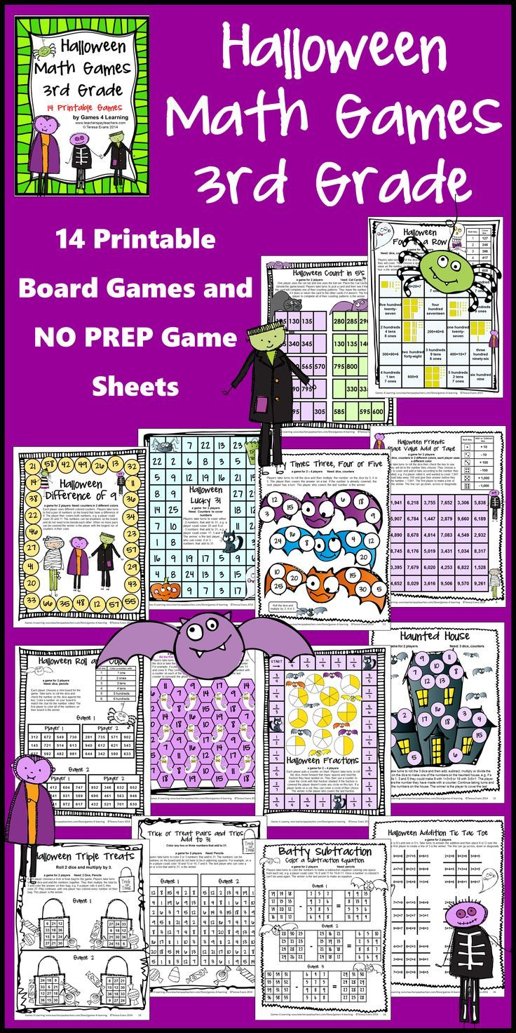 Halloween Math Games Third Grade by Games 4 Learning for bringing some  Halloween fun into the