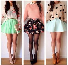 skater skirt outfits tumblr summer - Google Search