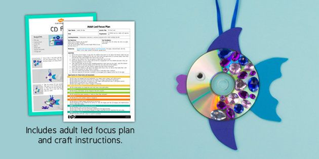 CD Fish Craft Adult Led Focus Plan And Craft Pack (Under the Sea) - under the sea, EYFS lesson plan, activity