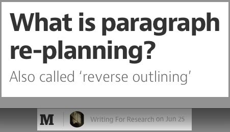 002 What is paragraph replanning? Paragraph, How to plan