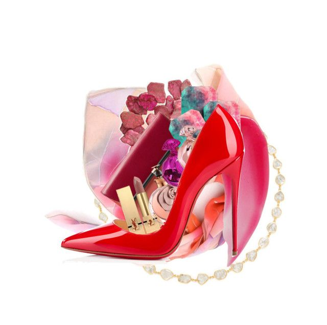 """Lollipop Shoe"" by anna-jarovaja-v on Polyvore featuring Amrapali, Christian Louboutin, NEST Jewelry, Diane Von Furstenberg, Yves Saint Laurent, Valentino, Charlotte Tilbury, DENY Designs and Judith Leiber"