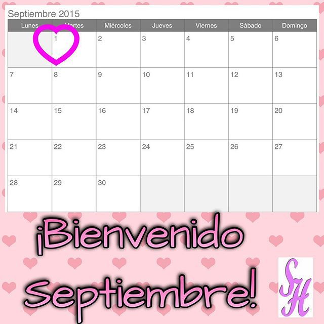 Bienvenido Septiembre!  Aprovechemos estos 30 nuevos días para planificar reestructurar y lograr nuestras metas. Si se puede!  #septiembre  #september #setiembre #metas #felicidad #happy #logros #followme #photooftheday #tagsforlikes #beautiful #girl #picoftheday #like #smile #like4like #fun #friends #instadaily #igers #instalike #amazing #follow4follow #bestoftheday