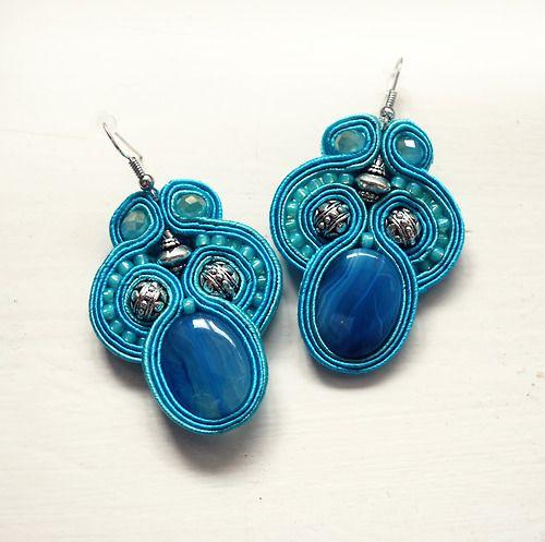 Soutache earrings by AmarylisHandCraft