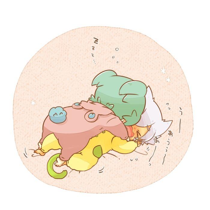 Tags: Anime, Pixiv Id 2160440, Inazuma Eleven GO, Inazuma Eleven GO Chrono Stone, Saryuu Evan, Fey Rune, Laying on Back